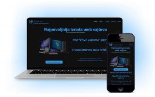 Web sajt sa tamnom pozadinom dark mode