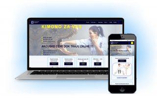 veb sajt prilagodljiv za kompjuter i mobilni sa plavom