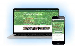 veb sajt responsiv za kompjuter i mobilni sa plavom senkom