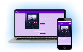 web sajt prilagodljiv za kompjuter i mobilni sa plavom pozadinom